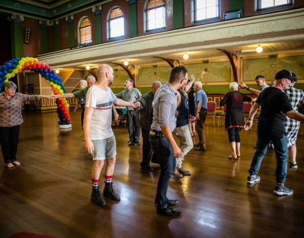 The LGBTI Elders Dance Club – Fitzroy Town Hall. © Image by Bryony Jackson.